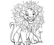 Coloriage et dessins gratuit Simba bébé en ligne à imprimer