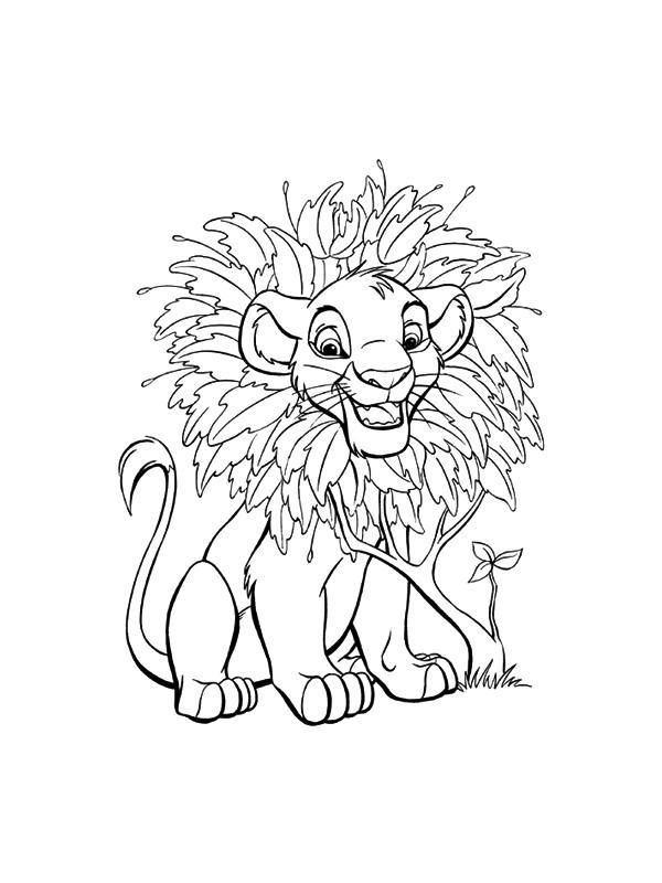 Coloriage et dessins gratuits Simba bébé en ligne à imprimer