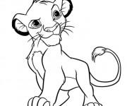 Coloriage et dessins gratuit Simba en ligne à imprimer