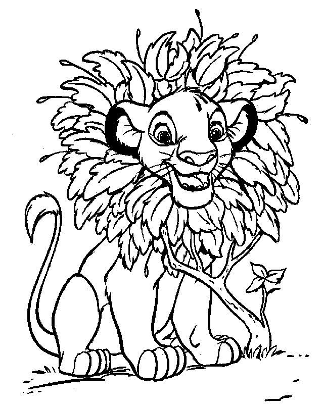 Coloriage et dessins gratuits Simba en ligne à colorier à imprimer