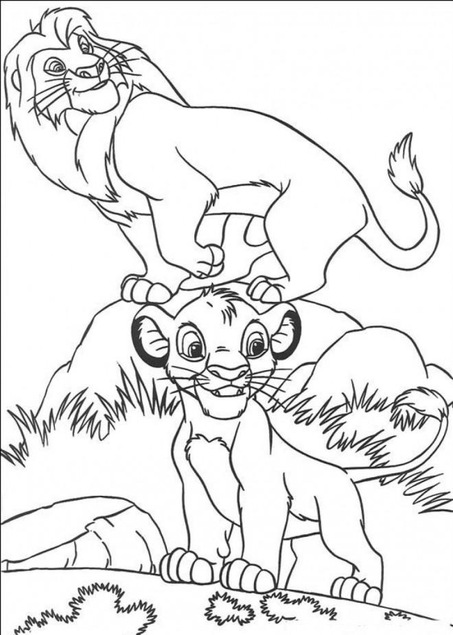 Coloriage et dessins gratuits Simba et son père à imprimer