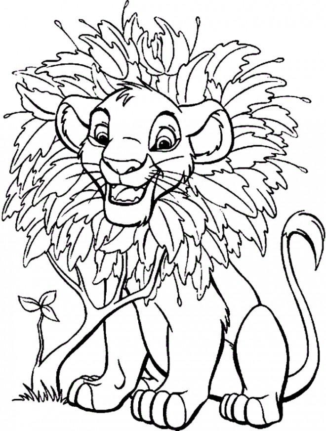Coloriage et dessins gratuits Simba fait des bêtises à imprimer