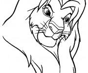 Coloriage et dessins gratuit Simba le roi lion à imprimer