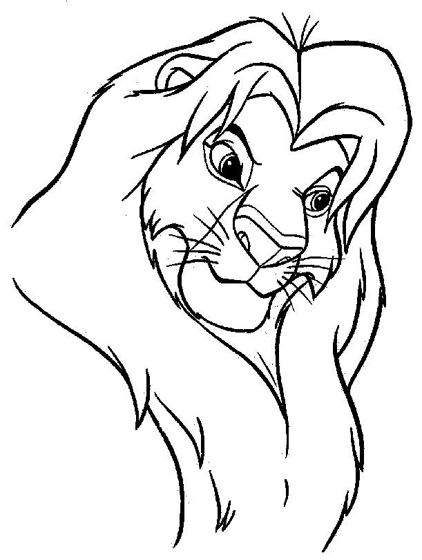 Coloriage et dessins gratuits Simba le roi lion à imprimer