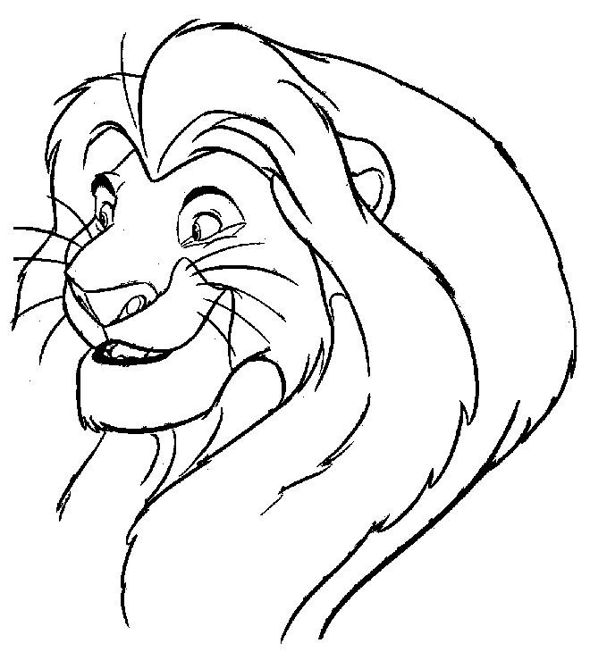 Coloriage et dessins gratuits Simba Mufasa à imprimer