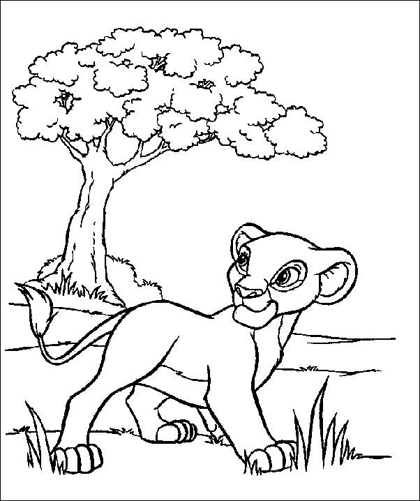 Coloriage et dessins gratuits Simba Nala se promène à imprimer