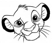 Coloriage et dessins gratuit Tête Simba à imprimer