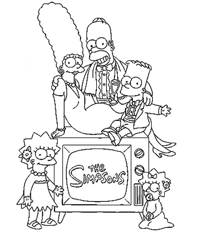 Coloriage et dessins gratuits Famille Simpson à imprimer à imprimer