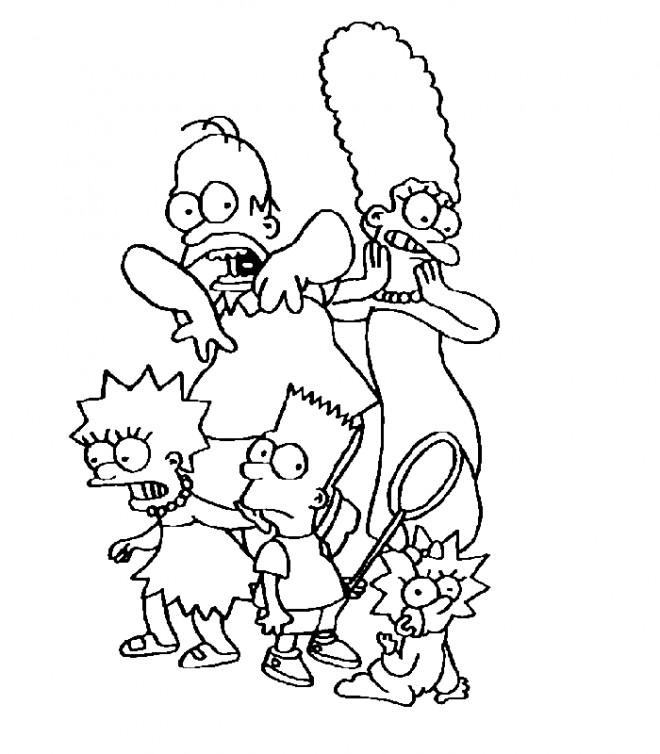 Coloriage et dessins gratuits Les aventures de Simpson à imprimer