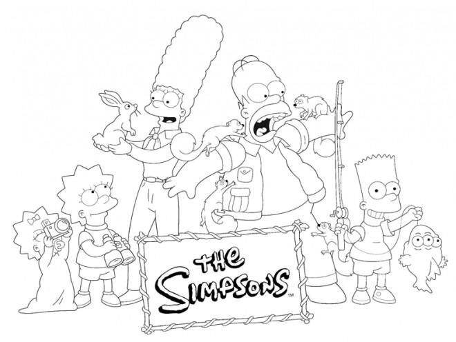 Coloriage et dessins gratuits Les Simpsons à imprimer