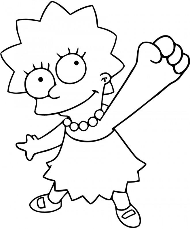 Coloriage et dessins gratuits Lisa Simpson en ligne à imprimer