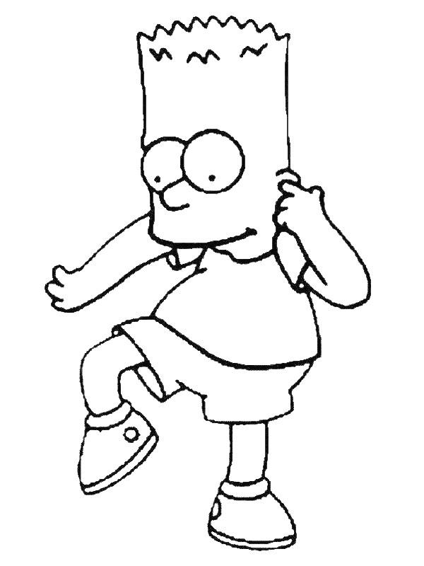 Coloriage et dessins gratuits Simpson Bart à imprimer
