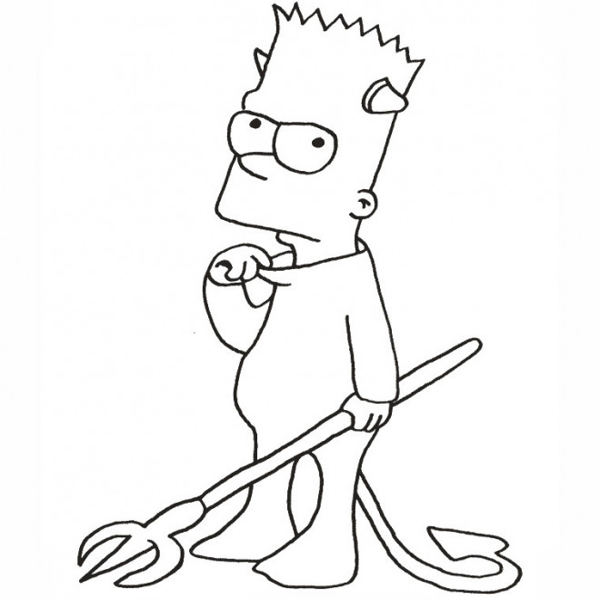 Coloriage simpson bart halloween dessin gratuit imprimer - Coloriage simpson halloween ...