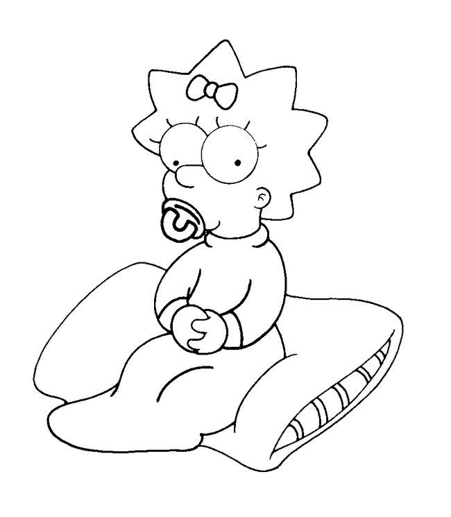Coloriage et dessins gratuits Simpson bébé à imprimer à imprimer