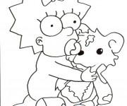 Coloriage et dessins gratuit Simpson bébé joue à imprimer