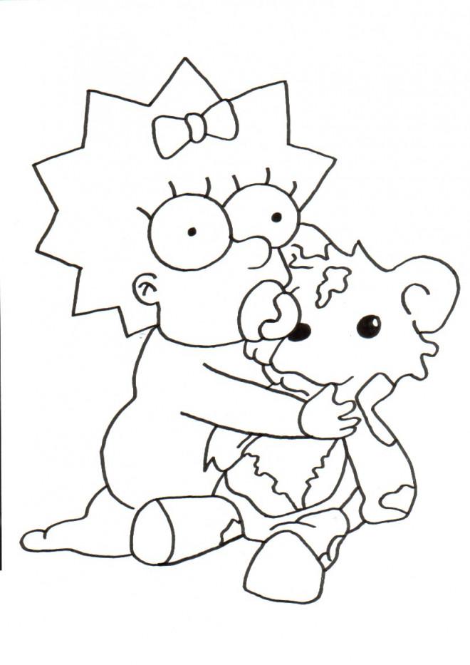 Coloriage et dessins gratuits Simpson bébé joue à imprimer