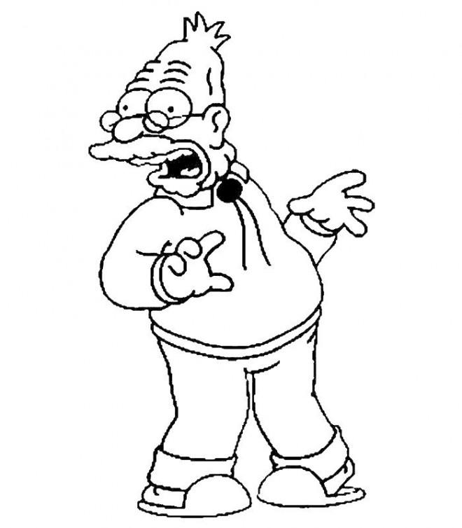 Coloriage et dessins gratuits Simpson couleur à imprimer