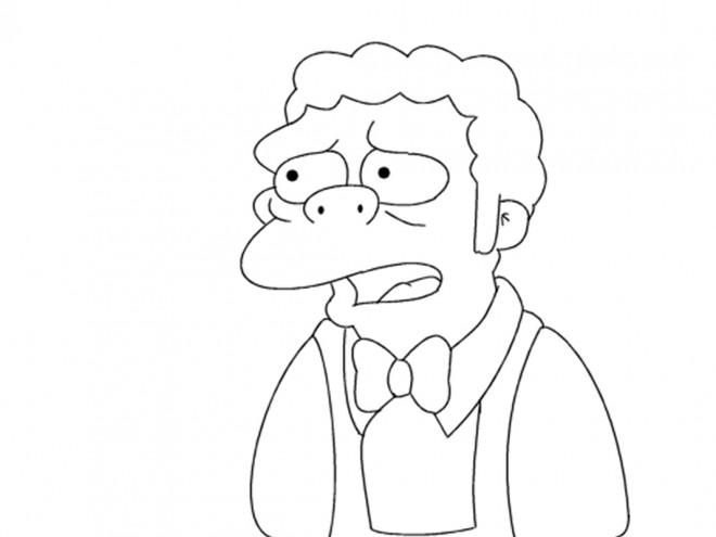 Coloriage et dessins gratuits Simpson difficile à imprimer