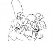 Coloriage et dessins gratuit Simpson famille à imprimer à imprimer
