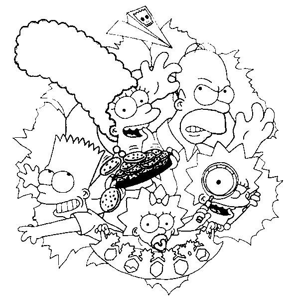 Coloriage simpson famille imprimer dessin gratuit imprimer - Dessin de simpson a imprimer ...