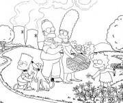 Coloriage et dessins gratuit Simpson famille en ligne à imprimer