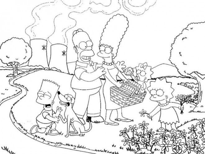 Coloriage et dessins gratuits Simpson famille en ligne à imprimer