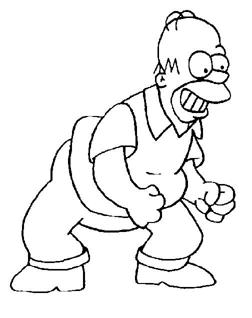Coloriage et dessins gratuits Simpson Homer à colorier à imprimer