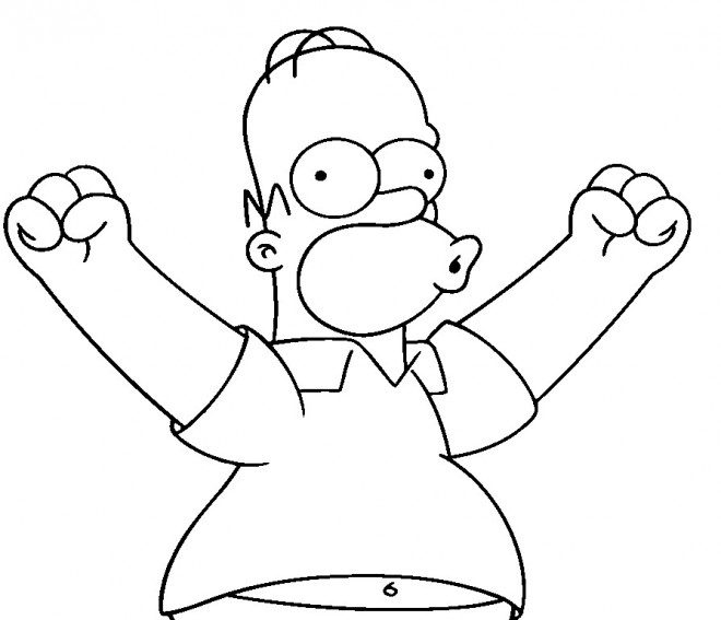 Coloriage et dessins gratuits Simpson Homer en ligne à imprimer