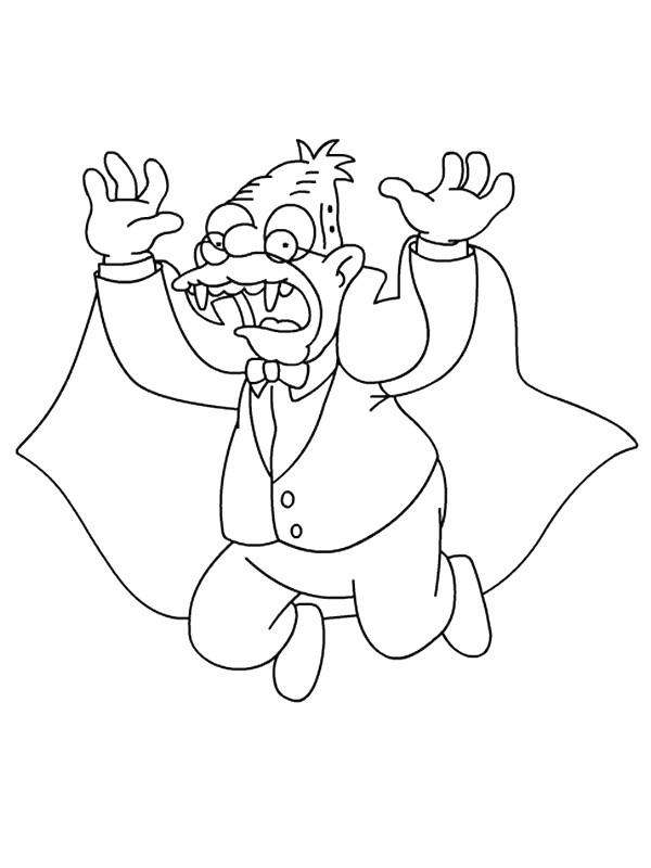Coloriage et dessins gratuits Simpson le grand père à imprimer