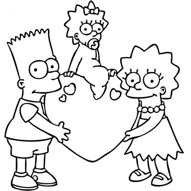 Coloriage et dessins gratuits Simpson les enfants à imprimer