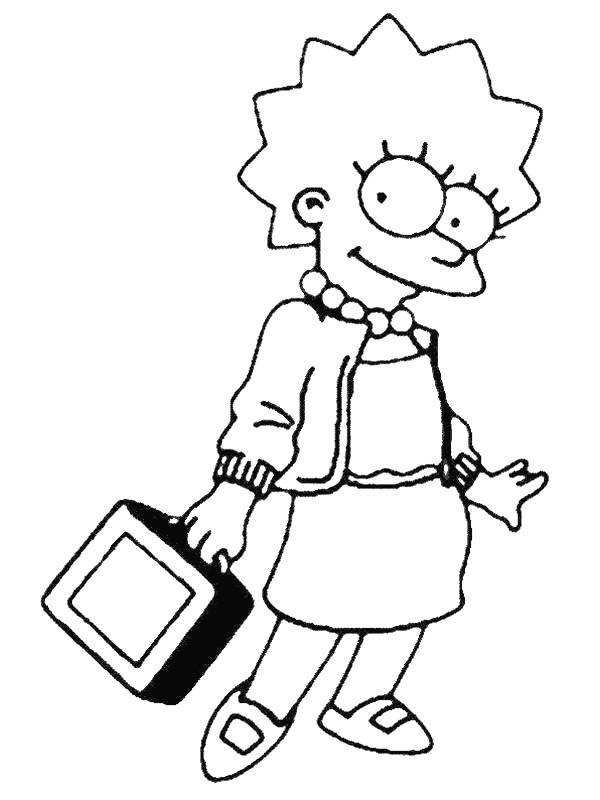 Coloriage et dessins gratuits Simpson Lisa à imprimer à imprimer
