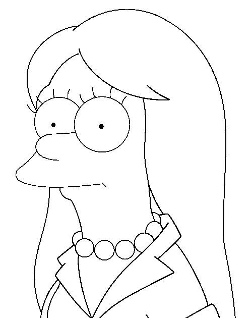 Coloriage et dessins gratuits Simpson Lisa au cheveux longs à imprimer
