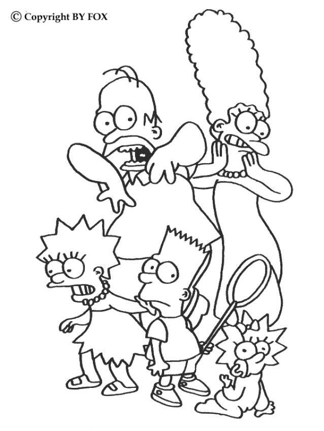 Coloriage et dessins gratuits Simpson maggie à imprimer