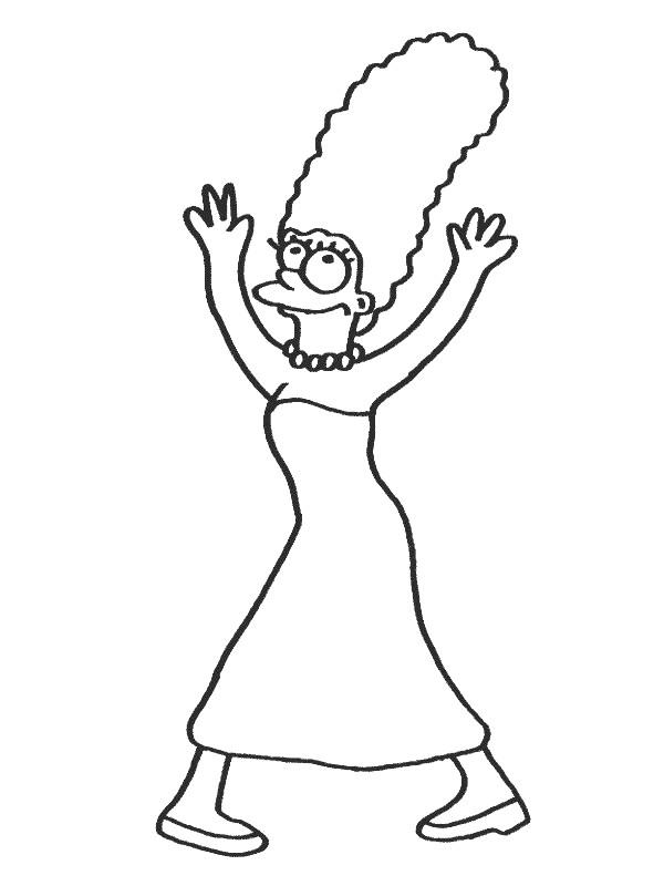 Coloriage et dessins gratuits Simpson Marge à imprimer