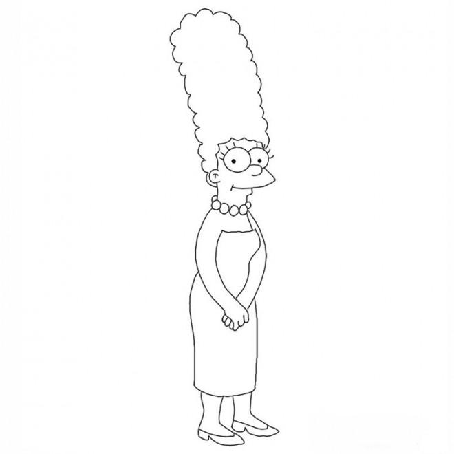 Coloriage et dessins gratuits Simpson Marge simple à imprimer