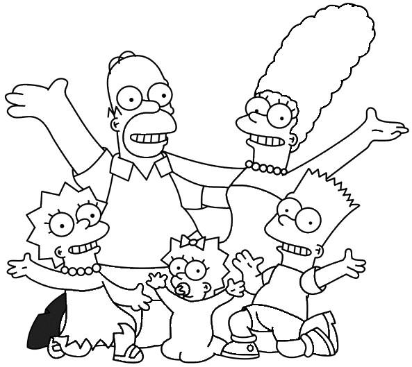 Coloriage et dessins gratuits Simpson Toute la famille à imprimer