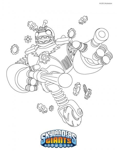 Coloriage et dessins gratuits Dessin Skylanders Bouncer à imprimer