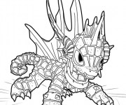 Coloriage Dessin Skylanders Dragon facile