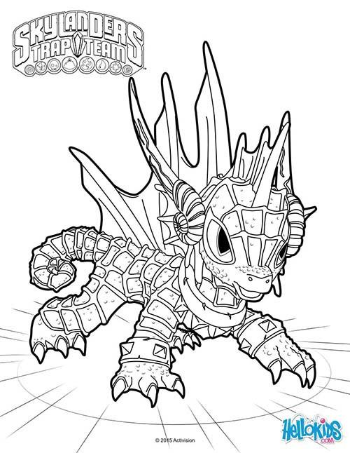 Coloriage Dessin Skylanders Dragon Facile Dessin Gratuit A Imprimer