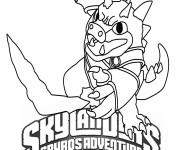 Coloriage et dessins gratuit Dessin skylanders facile à imprimer