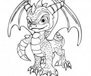 Coloriage et dessins gratuit Dessin Skylanders Spyro à imprimer