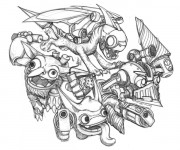 Coloriage Dessin Skylanders Superchargers