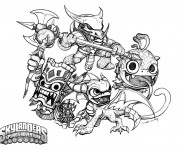 Coloriage dessin Skylanders Trap team facile