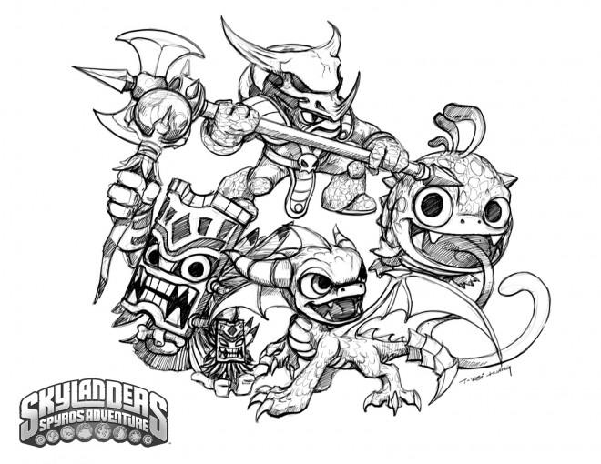 Coloriage et dessins gratuits dessin Skylanders Trap team facile à imprimer