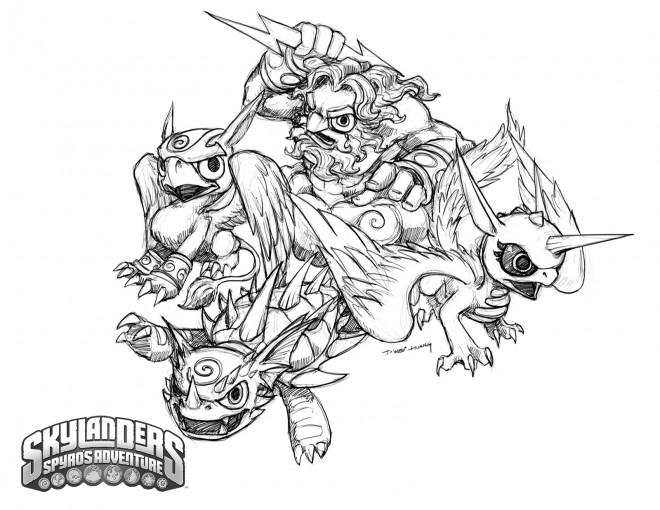 Coloriage et dessins gratuits Skylanders 16 à imprimer