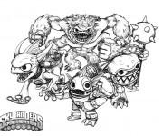 Coloriage dessin  Skylanders 6