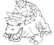 Coloriage Skylanders Bash, l'impitoyable monstre