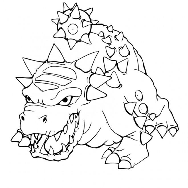 Coloriage et dessins gratuits Skylanders Bash, l'impitoyable monstre à imprimer