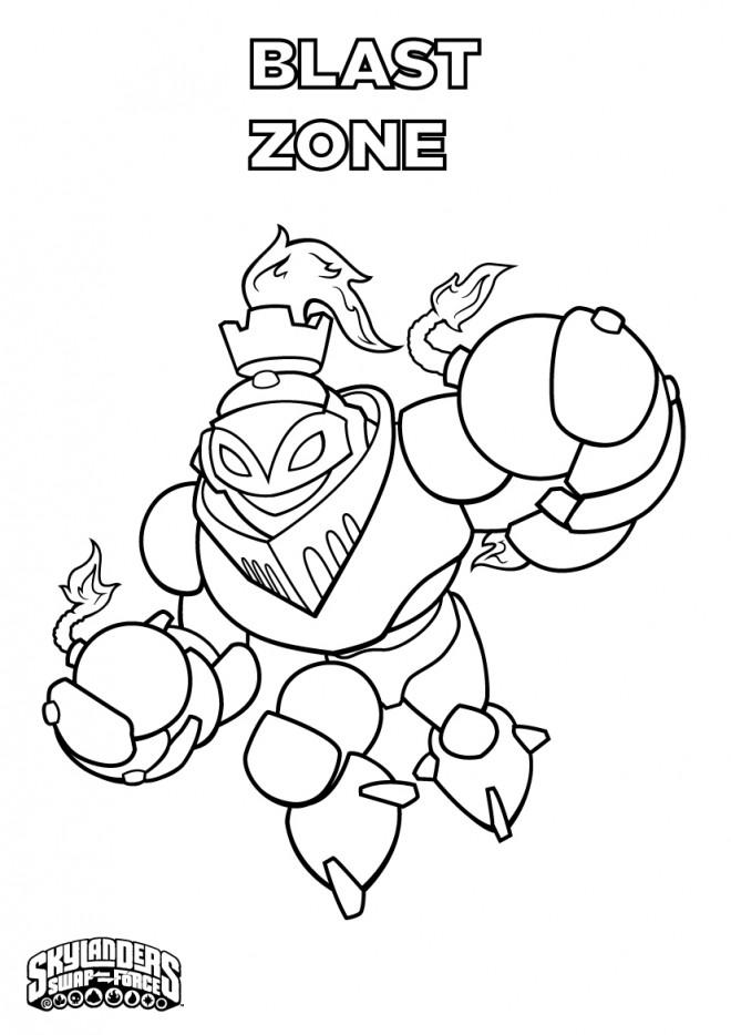 Coloriage et dessins gratuits Skylanders Blast Zone à imprimer