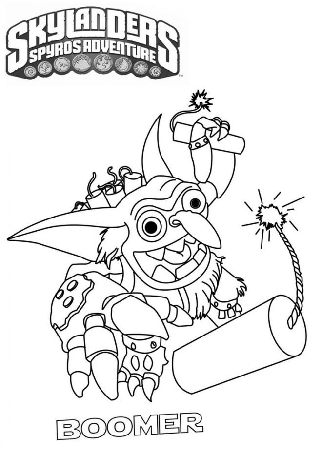 Coloriage et dessins gratuits Skylanders Boomer à imprimer